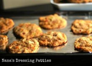 Nana's FAMOUS Dressing Patties | Aunt Bee's Recipes