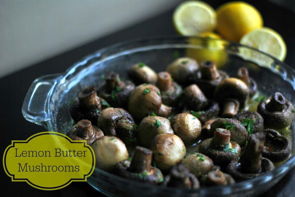 Lemon Butter Mushrooms | Aunt Bee's Recipes