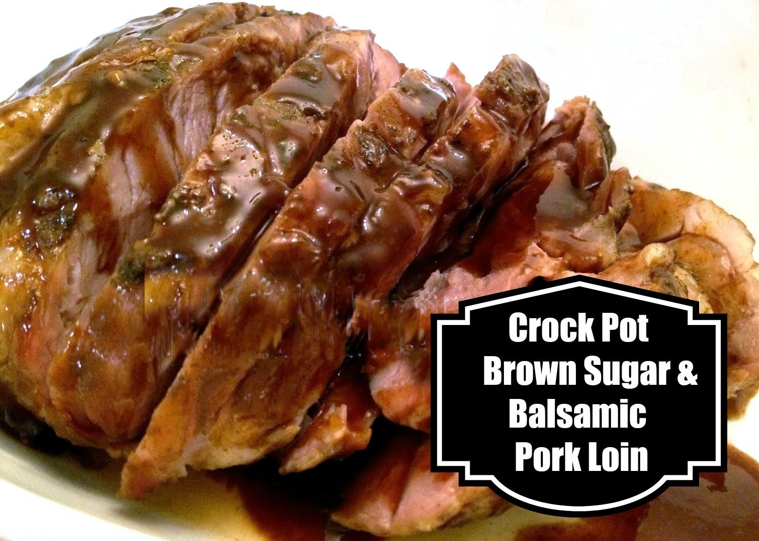 Crock-Pot Brown Sugar and Balsamic Pork Roast
