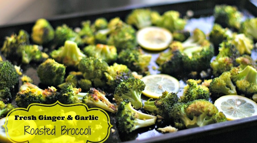 Fresh Ginger and Garlic Roasted Broccoli