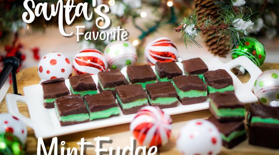 Santa's Favorite Mint Fudge