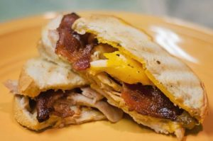'Brown Sugar Bacon & Chicken' Grilled Cheese Panini | Aunt Bee's Recipes