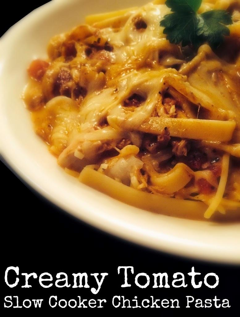 Creamy Tomato Slow Cooker Chicken Pasta Aunt Bee S Recipes