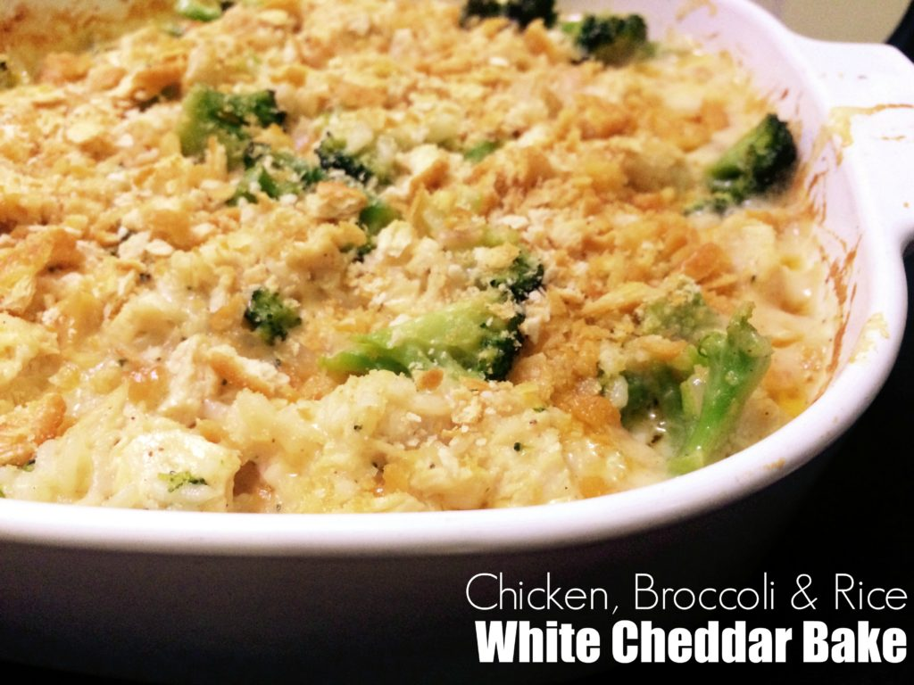 {Chicken, Broccoli & Rice} White Cheddar Bake | Aunt Bee's Recipes
