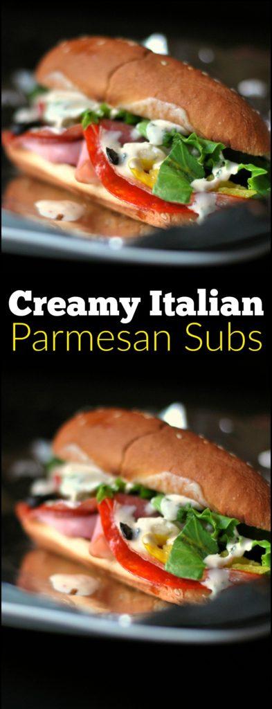 Creamy Italian Parmesan Subs | Aunt Bee's Recipes