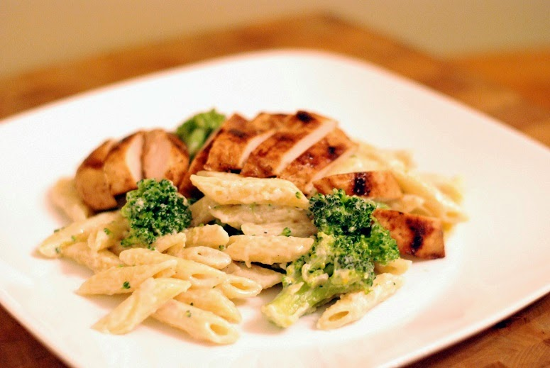 Grilled Chicken  Broccoli Penne AlfredoAunt Bees Recipes