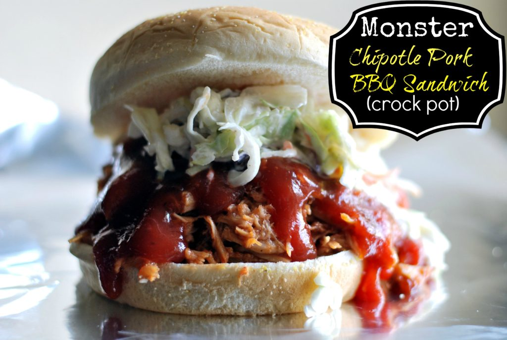 Monster Chipotle Pulled Pork BBQ Sandwich (crock pot) | Aunt Bee's Recipes