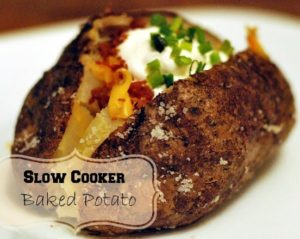 Slow Cooker Baked Potatoes | Aunt Bee's Recipes