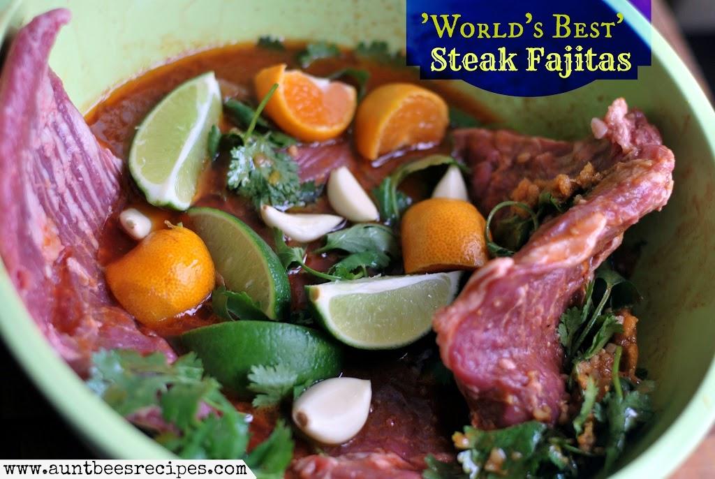 World's Best Steak Fajita Marinade   Aunt Bee's Recipes
