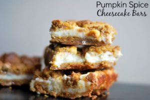 Pumpkin Spice Cheesecake Bars | Aunt Bee's Recipes