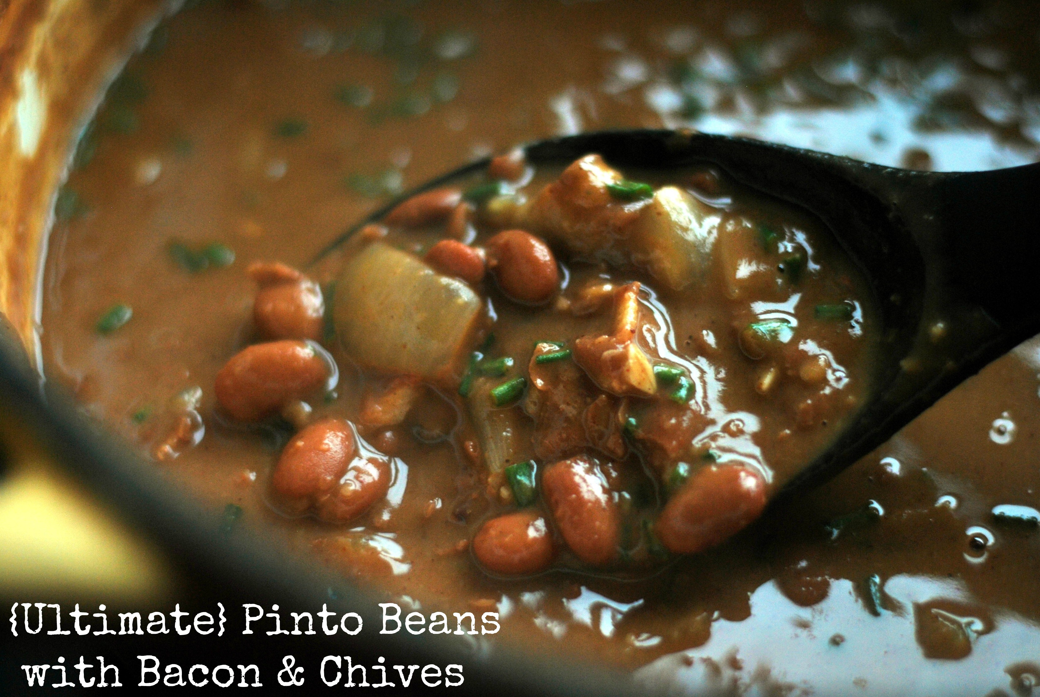 Ultimate Pinto Beans With Bacon Amp Chives Aunt Bee S Recipes