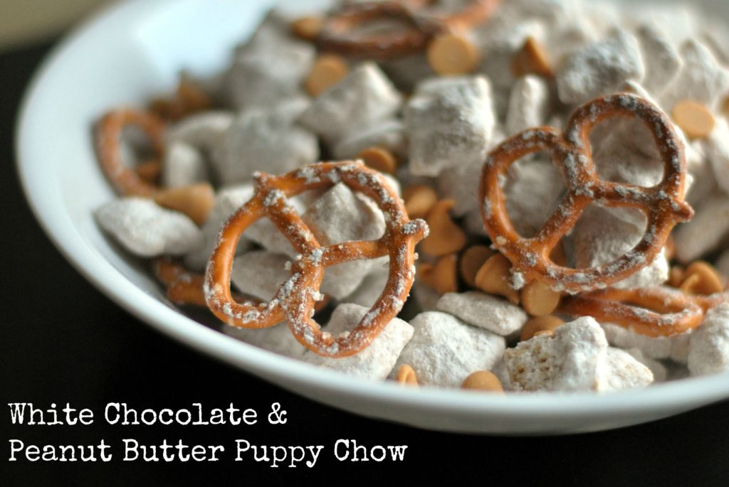 White Chocolate & Peanut Butter Puppy Chow | Aunt Bee's Recipes