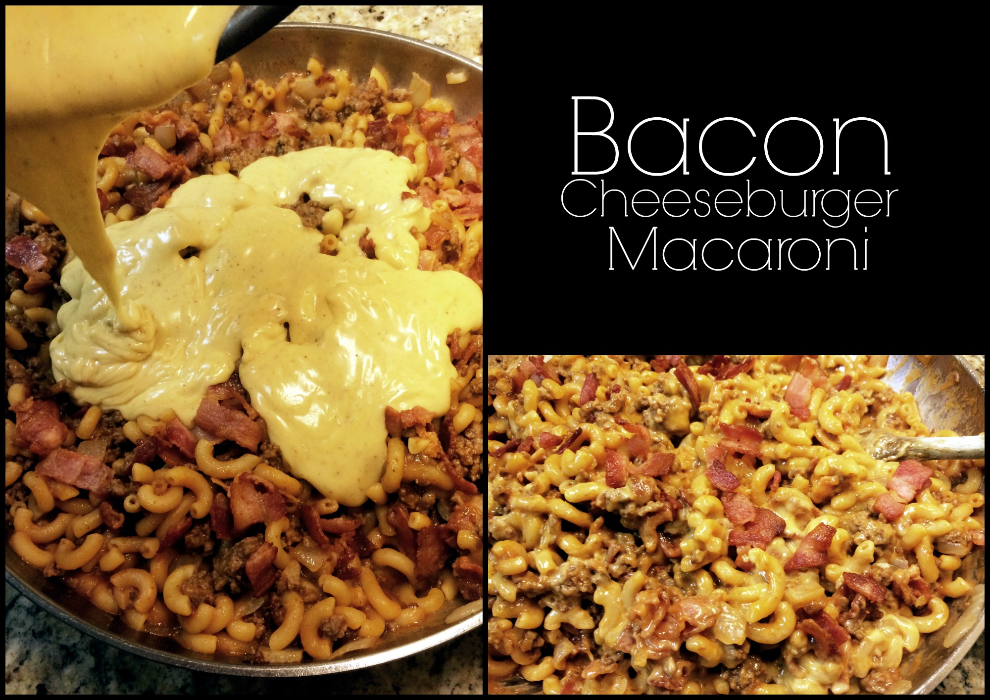 Bacon Cheeseburger Macaroni - Aunt Bee's Recipes