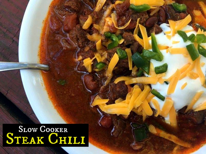 Slow Cooker Steak Chili | Aunt Bee's Recipes