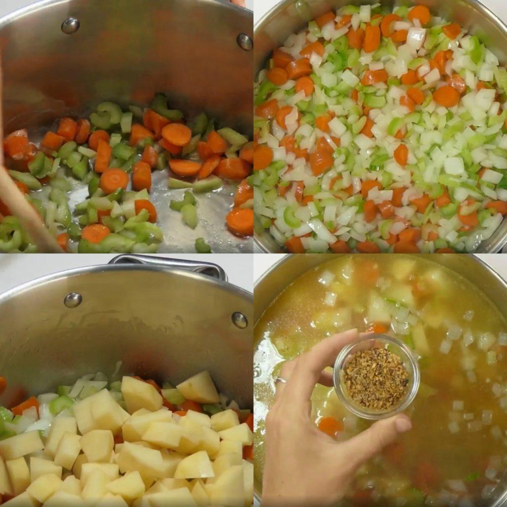 Chicken Pot Pie Soup | Aunt Bee's Recipes