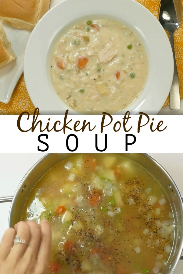 Chicken Pot Pie Soup | Aunt Bee's Recipes