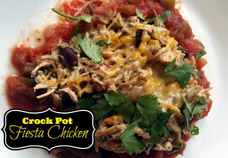 Fiesta Crock Pot Chicken | Aunt Bee's Recipes