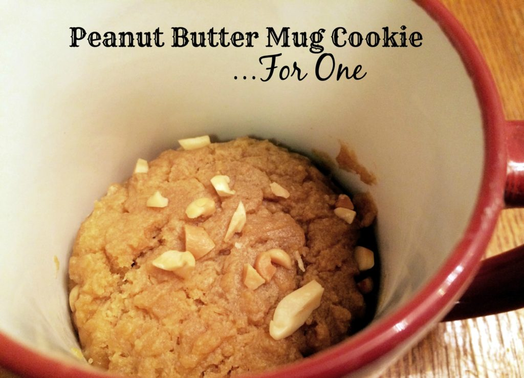 Peanut Butter Mug Cookie...For One   Aunt Bee's Reco[es