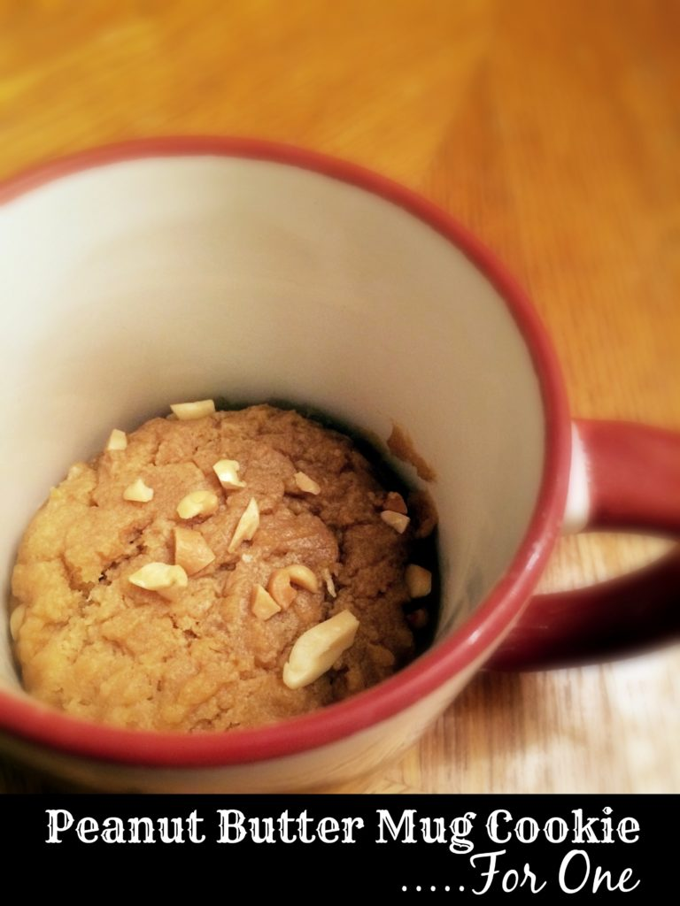 Peanut Butter Mug Cookie...For One   Aunt Bee's Recipes