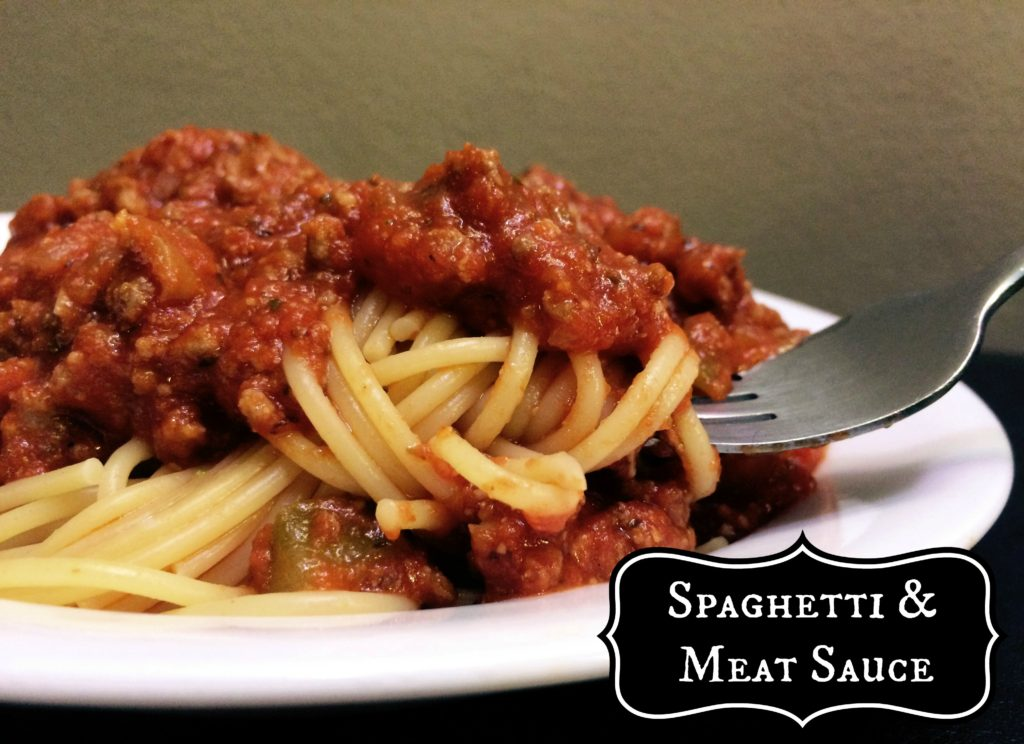 Spaghetti & Meat Sauce | Aunt Bee's Recipes