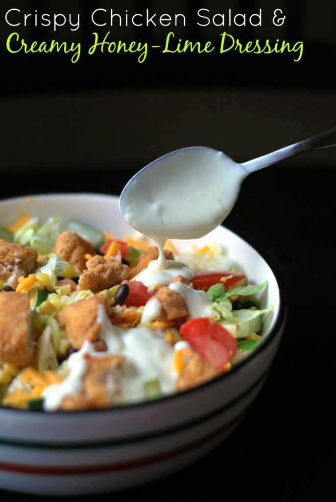 Crispy Chicken Salad with Creamy Honey-Lime Dressing | Aunt Bee's Recipes