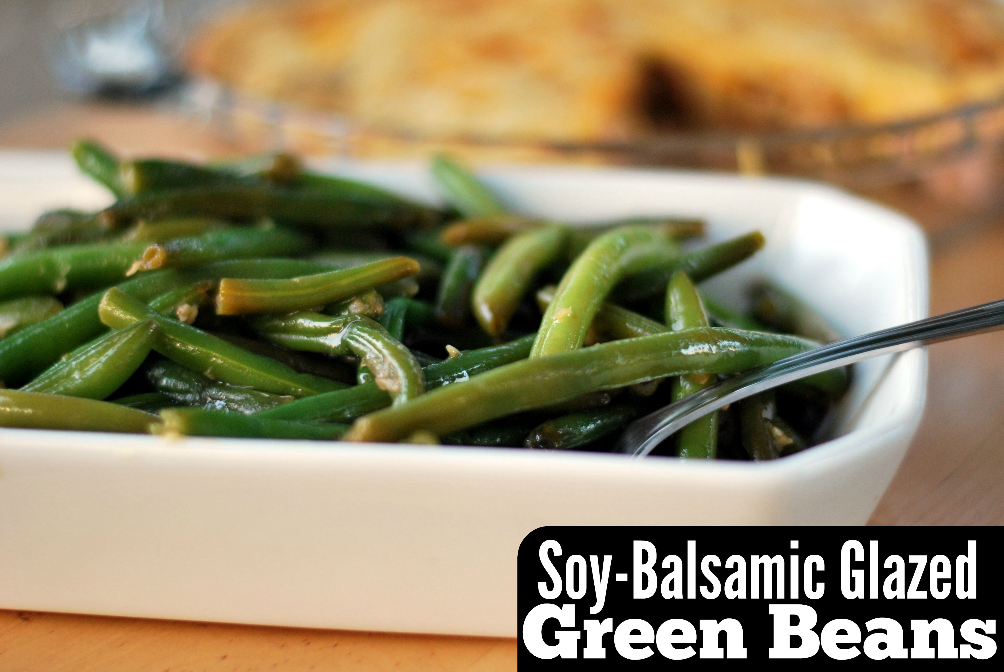Soy-Balsamic Glazed Green Beans