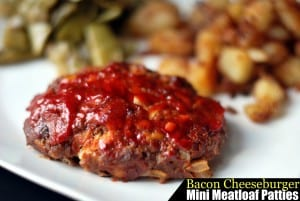 Bacon Cheeseburger Mini Meatloaf Patties