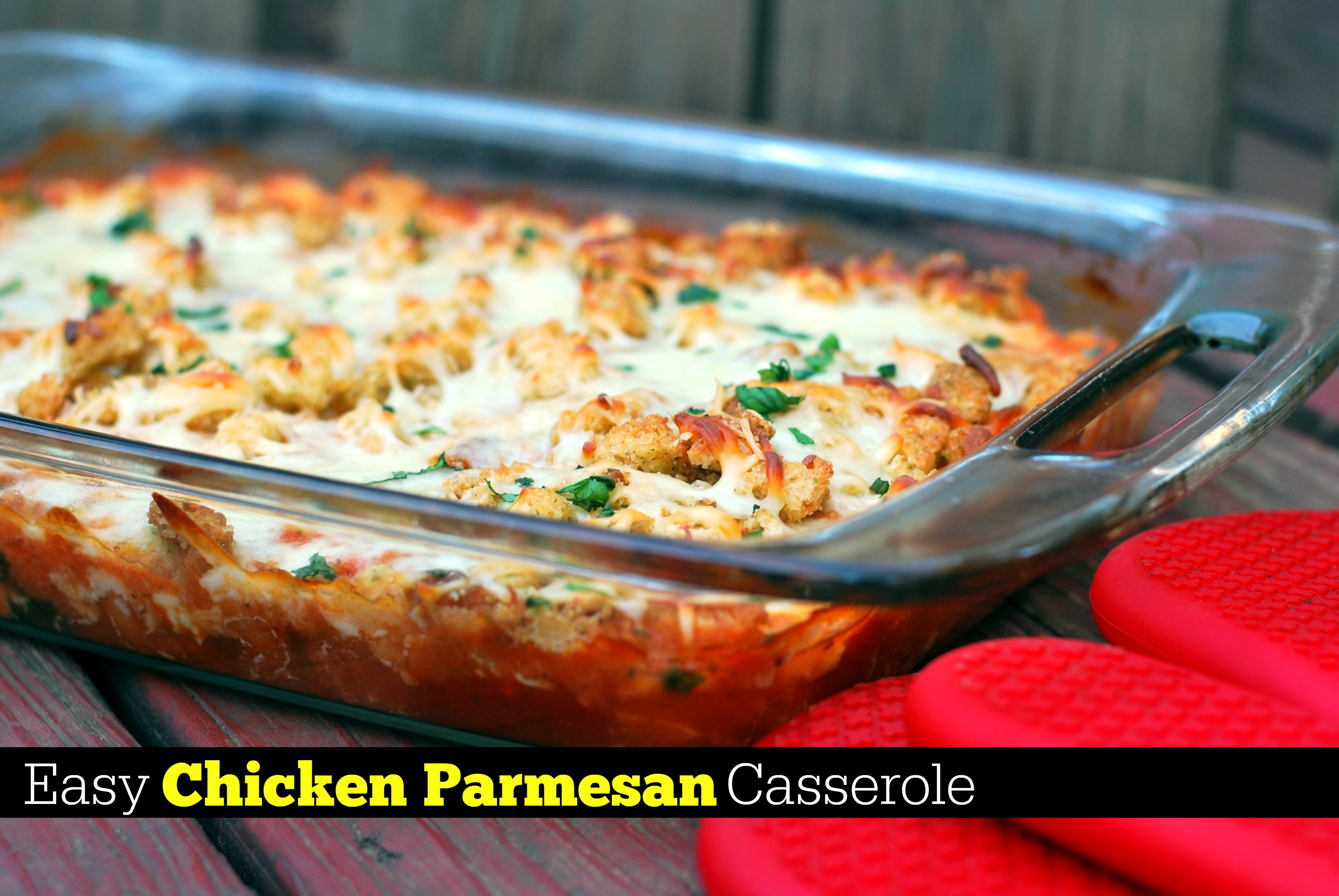 Easy Chicken Parmesan Casserole Aunt Bee S Recipes