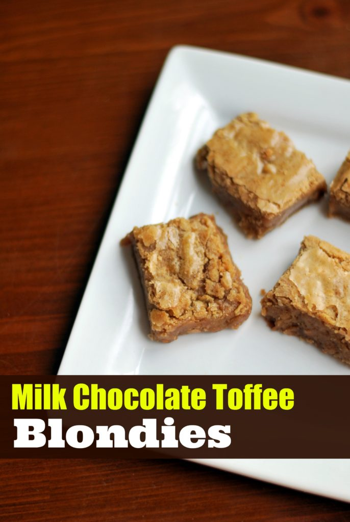 Milk Chocolate Toffee Blondies | Aunt Bee's Recipes