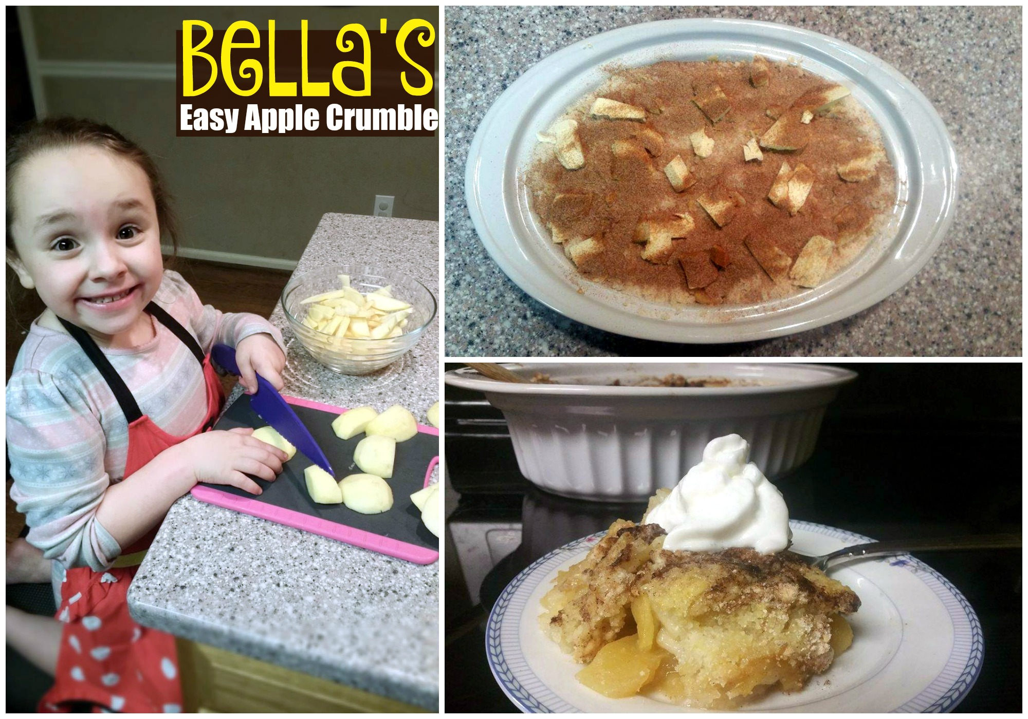 Bella's Easy Apple Crumble