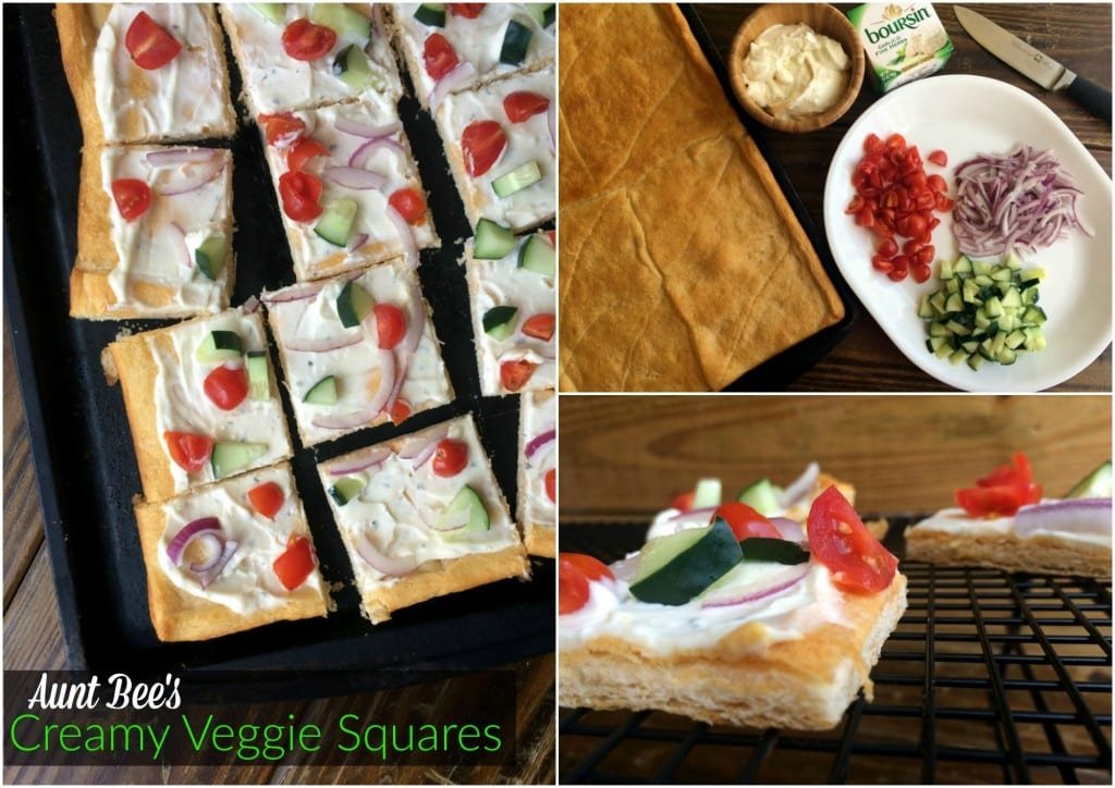 Creamy Veggie Squares | Aunt Bee's Recipes