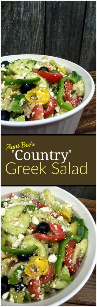 'Country' Greek Salad | Aunt Bee's Recipes