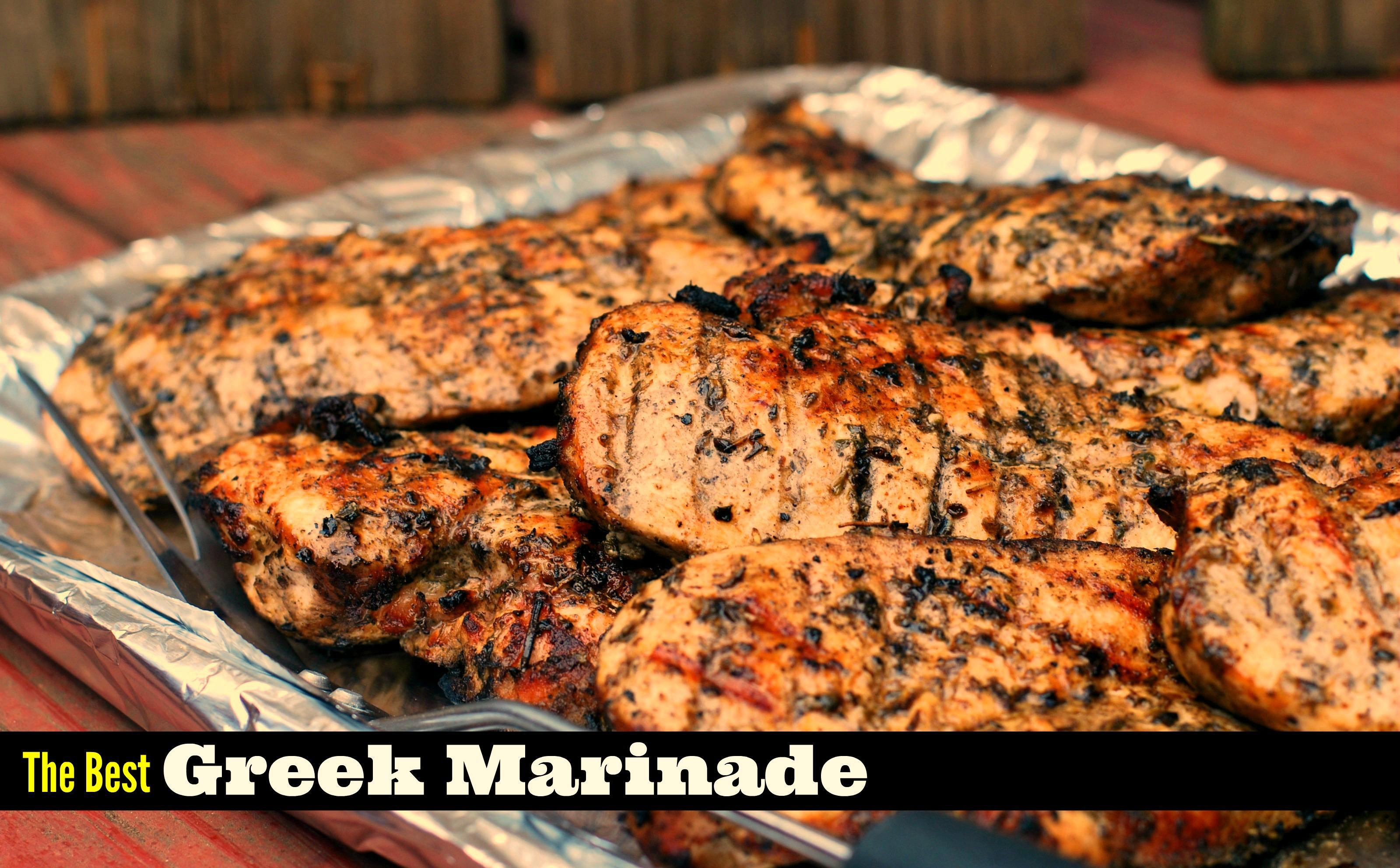 The Best Greek Marinade For Chicken Steak Amp Pork Aunt Bee S Recipes