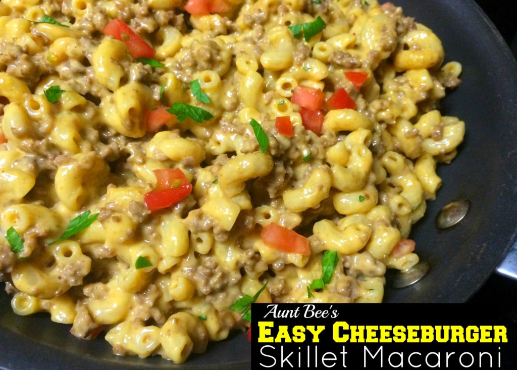 Easy Cheeseburger Skillet Macaroni | Aunt Bee's Recipes