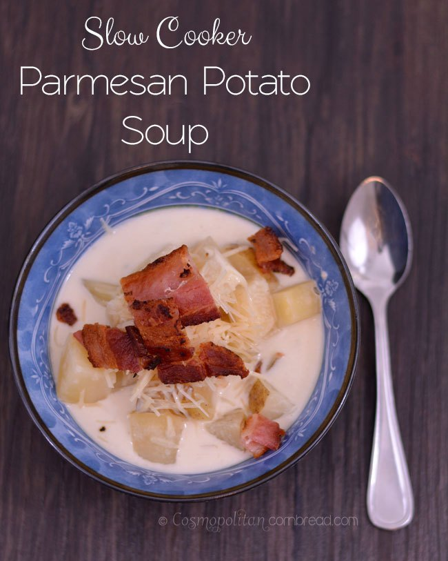 Slow Cooker Parmesan Potato Soup