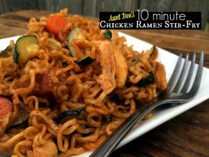 10 Minute Chicken & Ramen Stir-Fry | Aunt Bee's Recipes