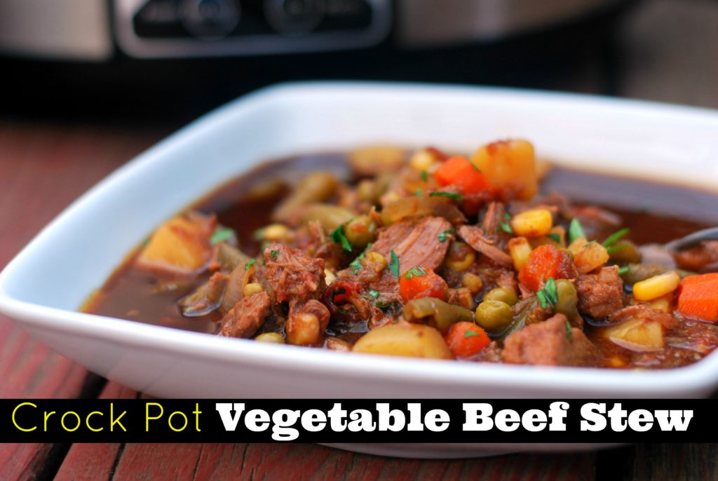 Crock Pot Vegetable Beef Stew | Aunt Bee's Recipes