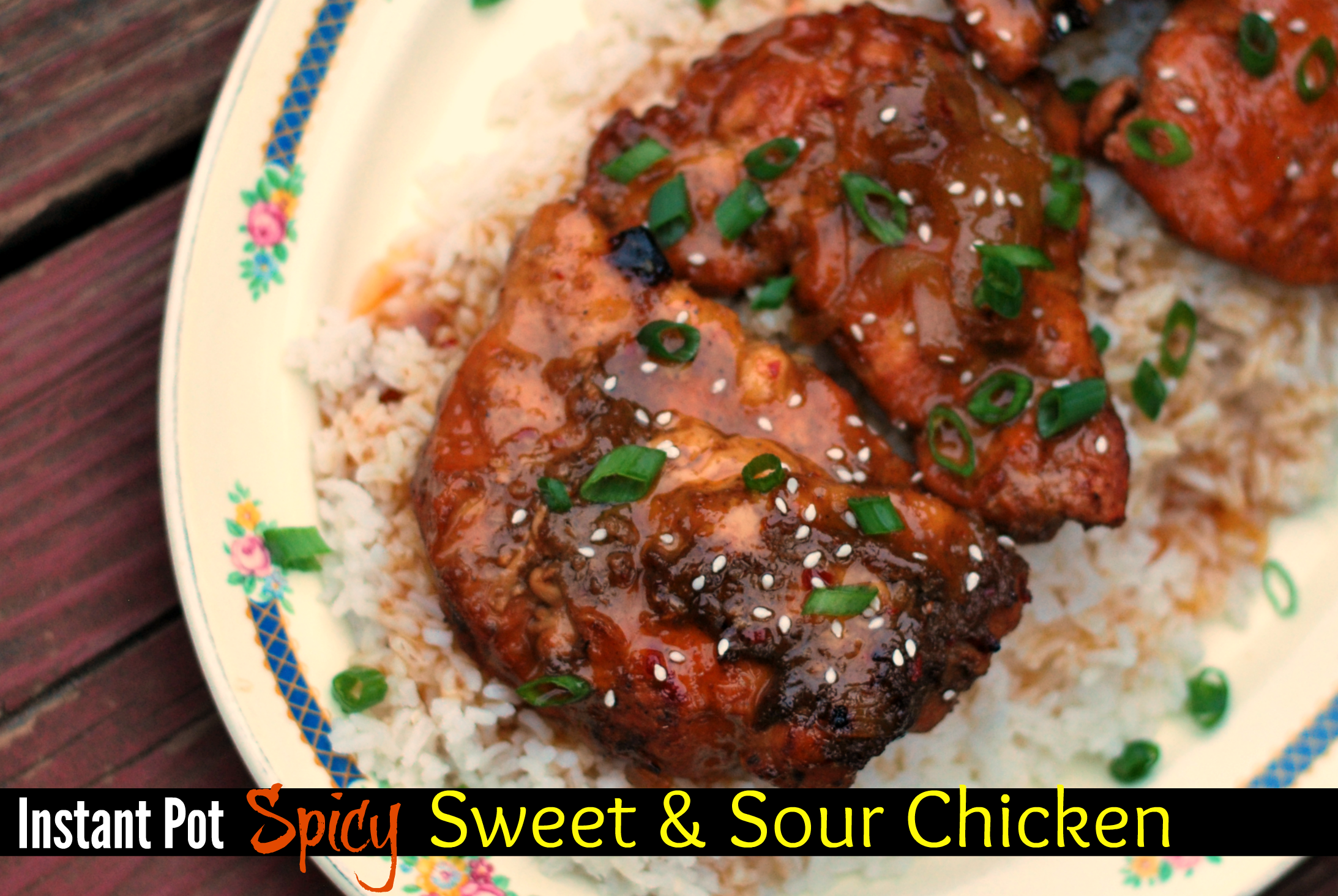 Instant Pot Spicy Sweet & Sour Chicken