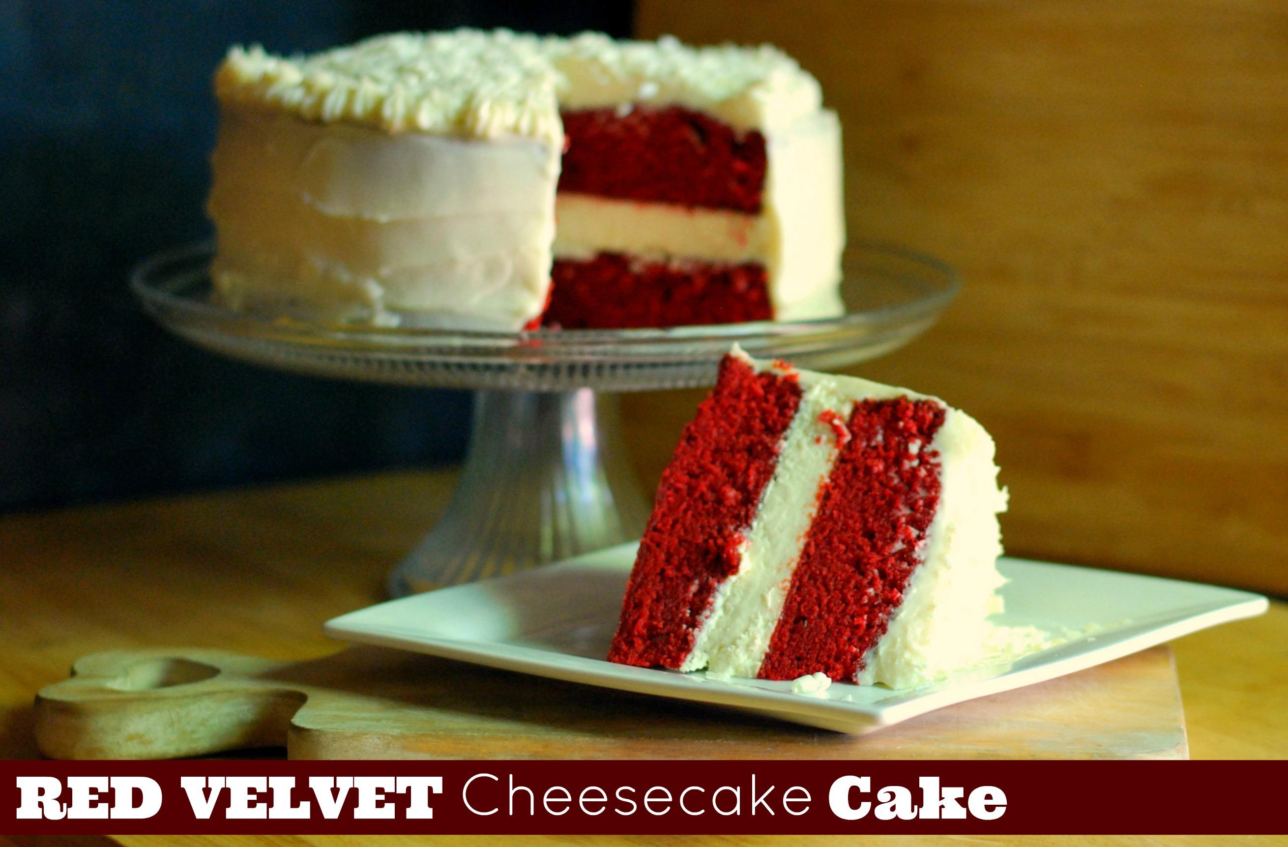 Red Velvet Cheesecake Cake - Aunt Bee's Recipes