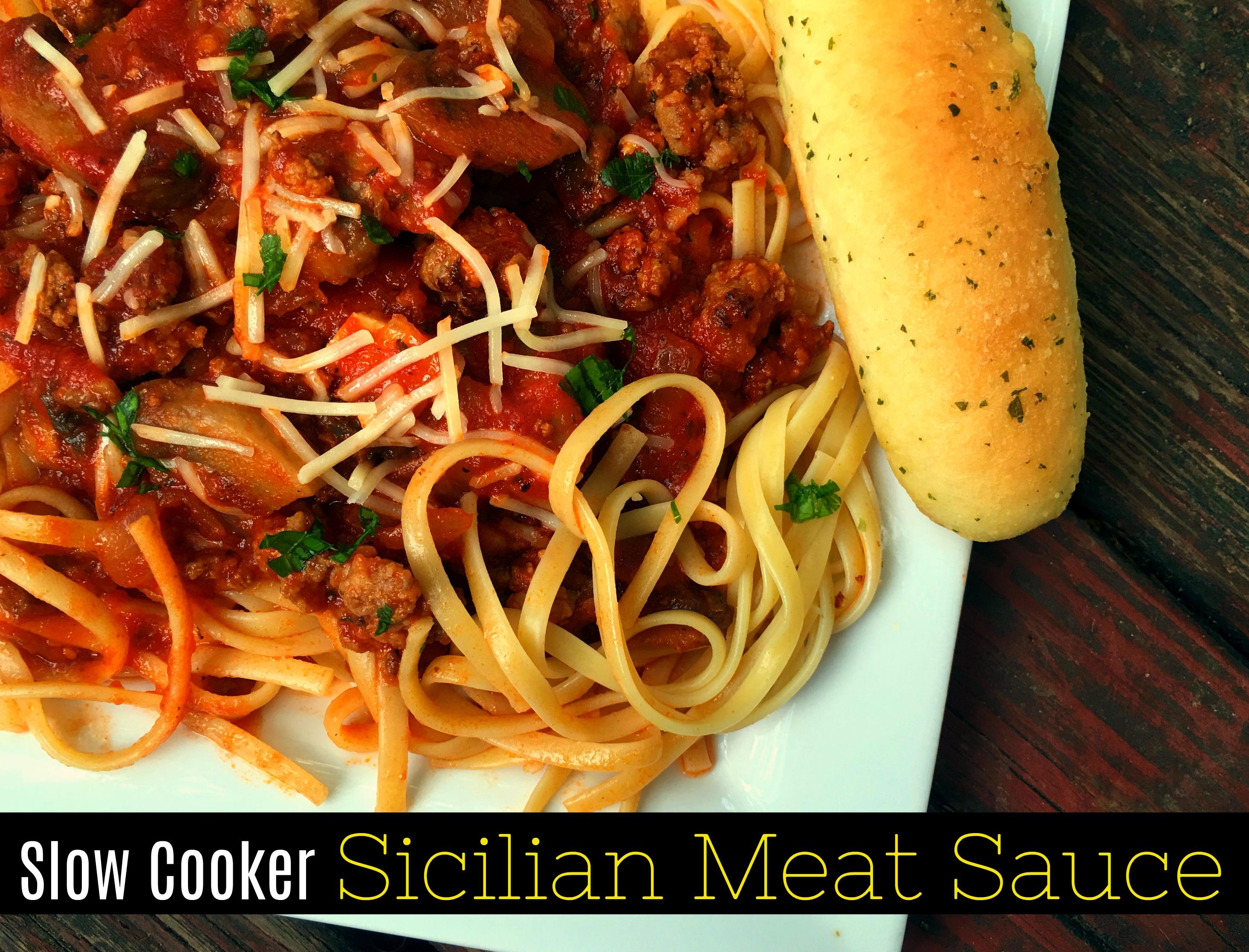Slow Cooker Sicilian Spaghetti