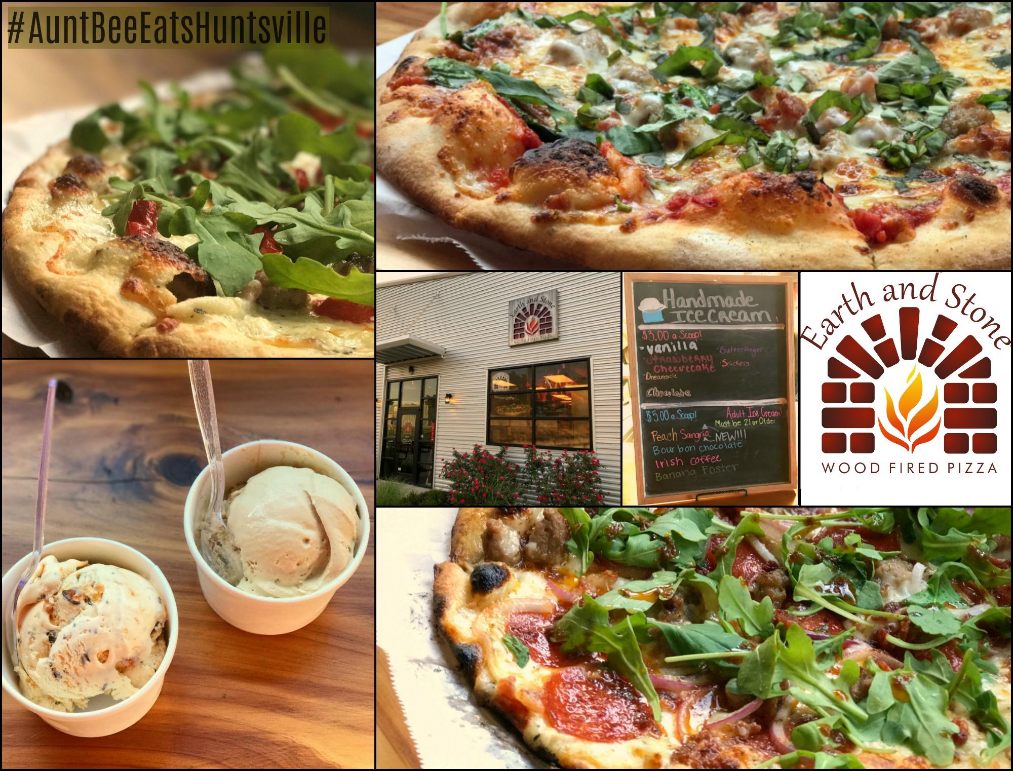 Earth and Stone Wood Fire Pizza #AuntBeeEatsHuntsville