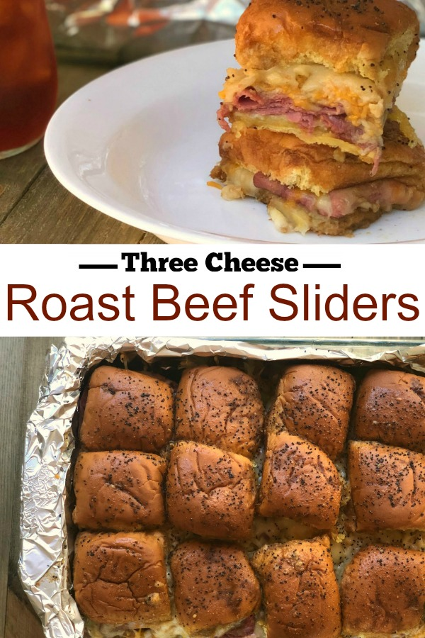 Three Cheese Roast Beef Sliders | Aunt Bee's Recipes
