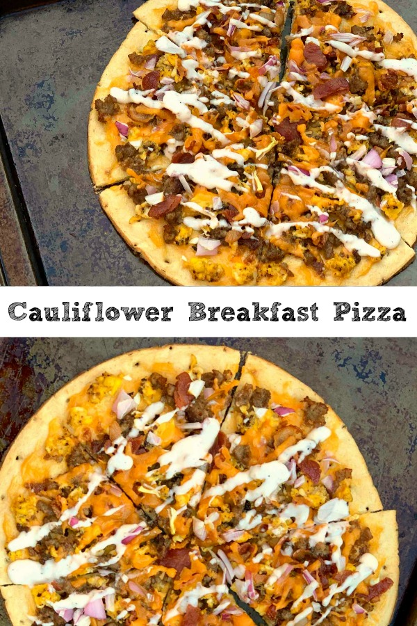 Cauliflower Breakfast Pizza