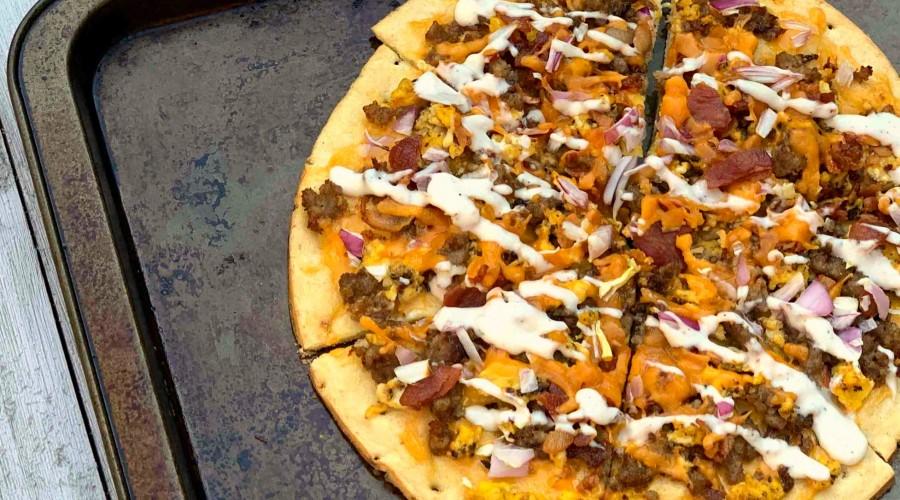 Easy Cauliflower Breakfast Pizza